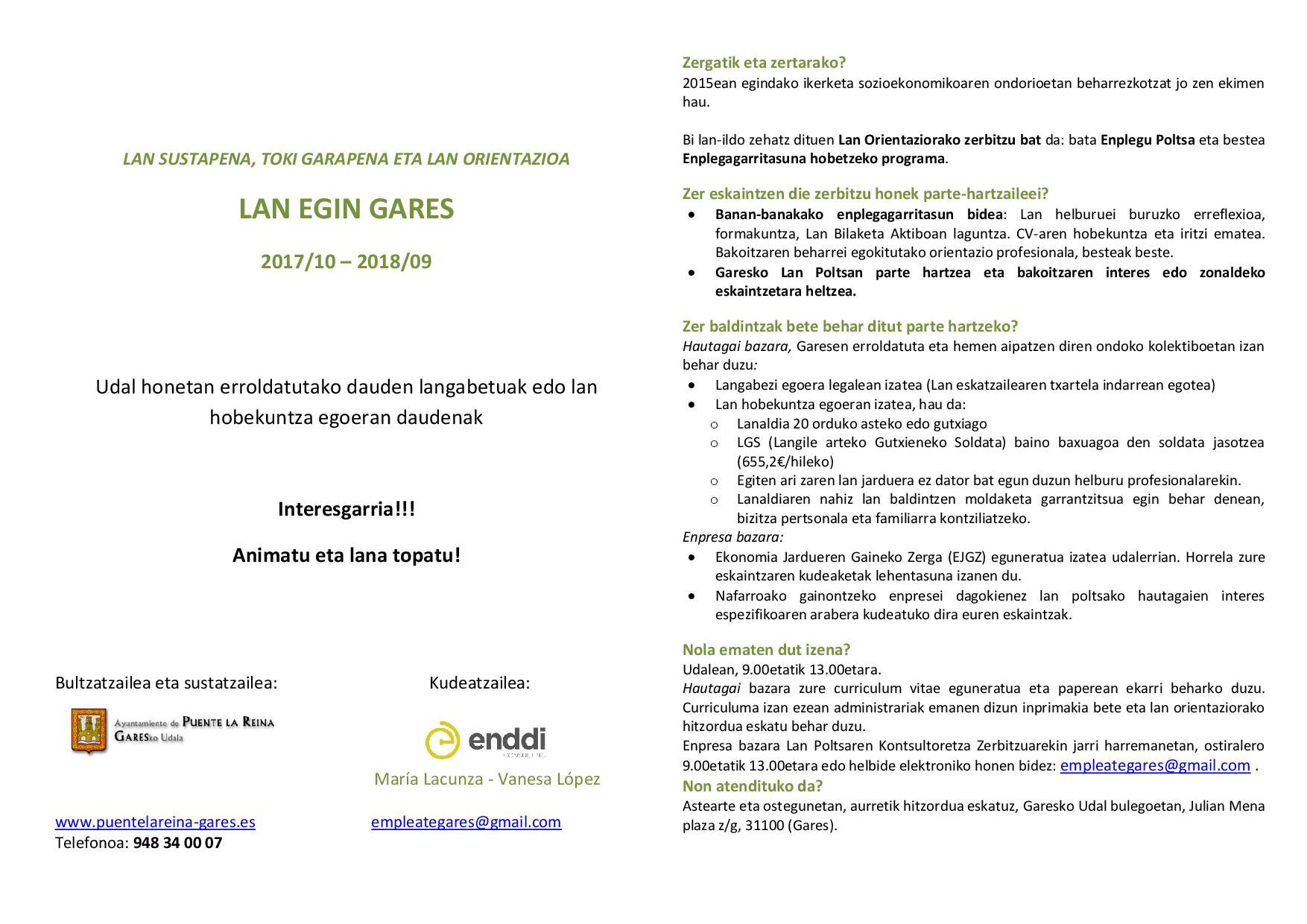 Lan egin Gares 2017-18