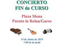 CONCIERTO FIN DE CURSO. ESCUELA MUNICIPAL DE MÚSICA PUENTE LA REINA/GARES-VALDIZARBE