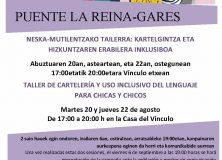 TALLER DE CARTELERÍA Y USO INCLUSIVO DEL LENGUAJE PARA CHICAS Y CHICOS