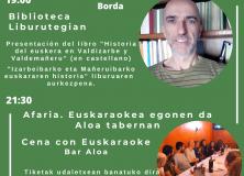 """PRESENTACIÓN DEL LIBRO """"HISTORIA DEL EUSKERA EN VALDIZARBE Y VALDEMAÑERU"""" (FERNANDO PEREZ DE LA BORDA)"""