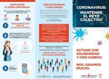 CORONAVIRUS: MANTENER UN RETO COLECTIVO