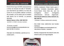 MANCOMUNIDAD VALDIZARBE. AVISO LECTURA DE CONTADORES