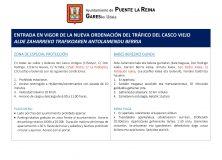 ENTRADA EN VIGOR DE LA NUEVA ORDENACIÓN DEL TRÁFICO DEL CASCO VIEJO