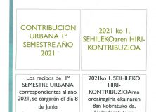 CONTRIBUCIÓN URBANA 1º SEMESTRE 2021