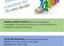 VOTACIÓN PRESENCIAL PRESUPUESTOS PARTICIPATIVOS 2021